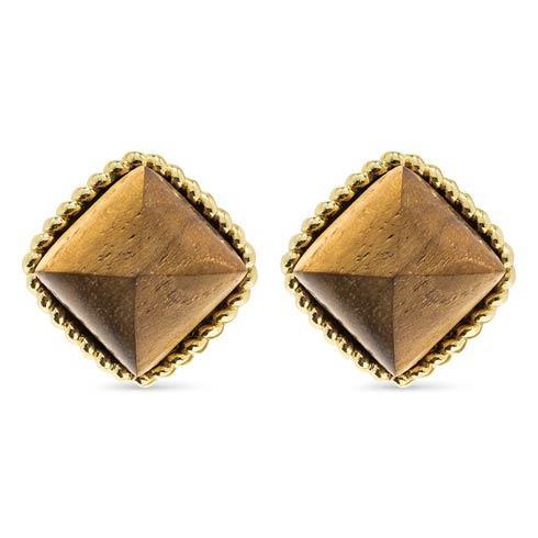 $115.00 Teak Clip Earrings