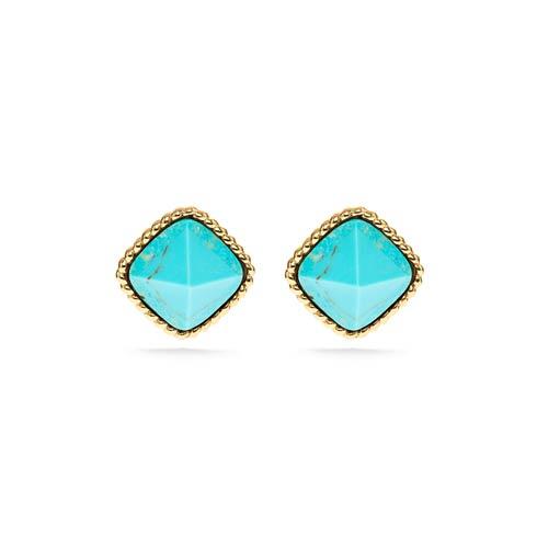 $135.00 Post Earrings, Turquoise