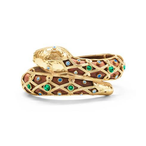 $395.00 Serpentina Hinged Bangle, Jeweled