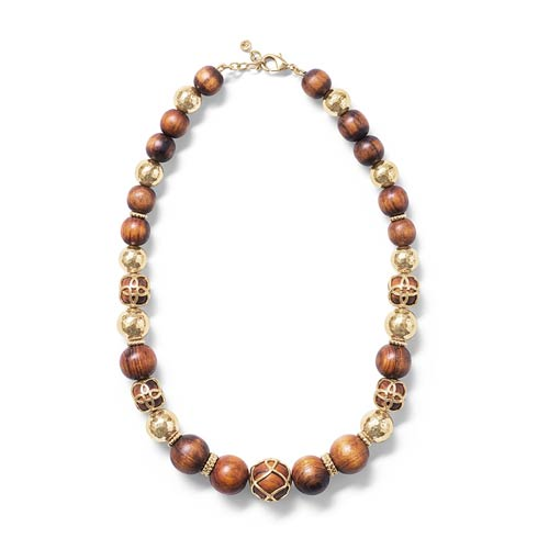 "$250.00 Elizabetta 18"" Necklace, Gold/Teak"