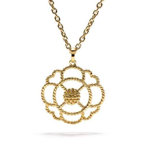 $195.00 Grande Open Pendant Necklace, Gold