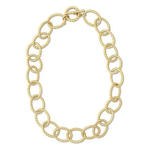 """$595.00 Grand Victoria Rope Link 18"""" Necklace, Gold"""