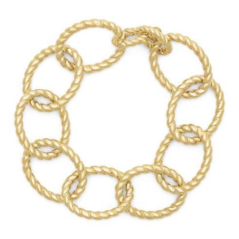 """$395.00 Grand Victoria Rope Link 7"""" Bracelet, Gold"""