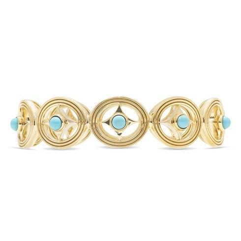 $395.00 Hinged Bangle, Turquoise