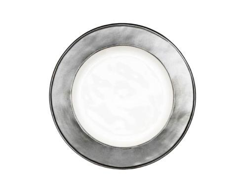 White/Pewter Side/Cocktail Plate