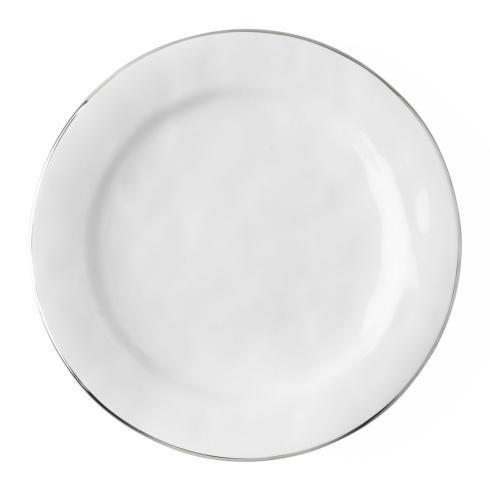 Juliska Puro Platinum Dinner Plate with Platinum Rim $45.00