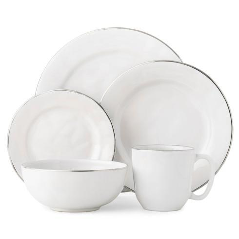 5pc Place Setting with Platinum Rim