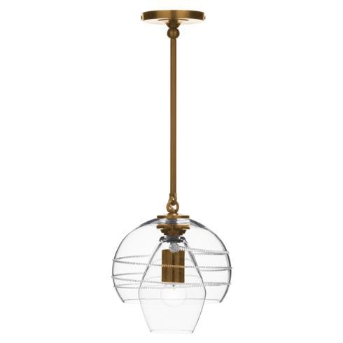 $750.00 Amalia Petit Double Shade Pendant in Brass
