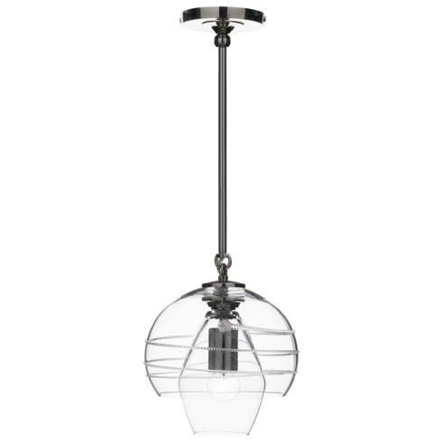 Amalia Petit Double Shade Pendant in Nickel
