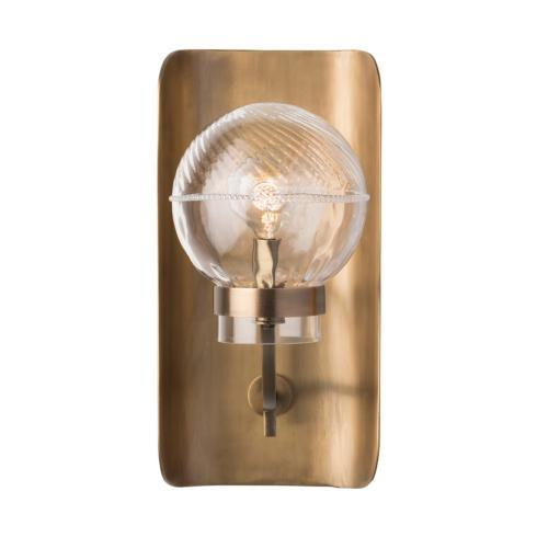 $585.00 Graham Globe on Lisbon Sconce in Brass