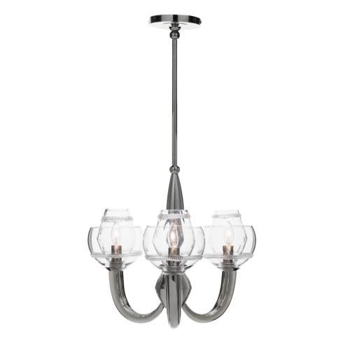 Dean Double Shade on Paris Chandelier in Nickel