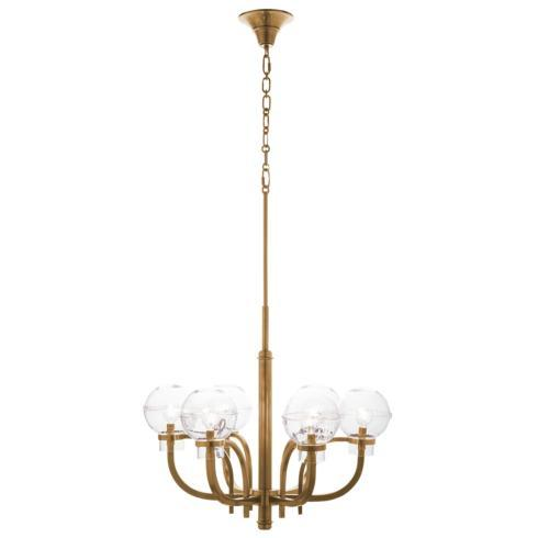 $2,950.00 Graham Globe on London Chandelier in Brass