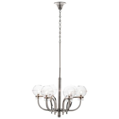 $2,950.00 Graham Globe on London Chandelier in Nickel