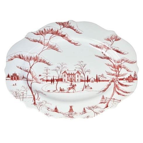 Juliska Country Estate Winter Frolic Ruby Holiday Large Platter $195.00
