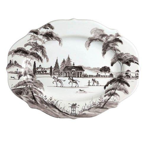 "Juliska Country Estate Flint 15"" Serving Platter Stable $135.00"