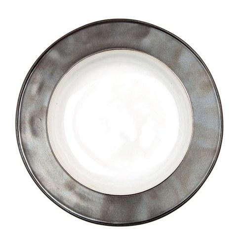 White/Pewter Pasta/Soup Bowl