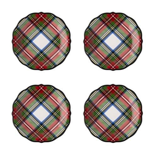 Juliska  Stewart Tartan Cocktail Plates, Set/4 $115.00