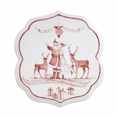 Juliska Country Estate Ruby Trivet Under the Mistletoe $48.00