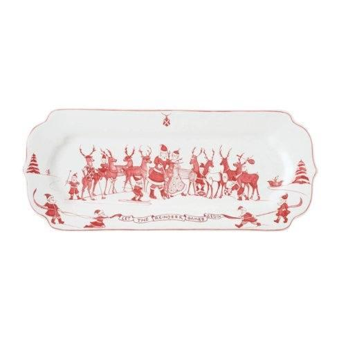 Juliska Country Estate Reindeer Games Ruby Hostess Tray $78.00