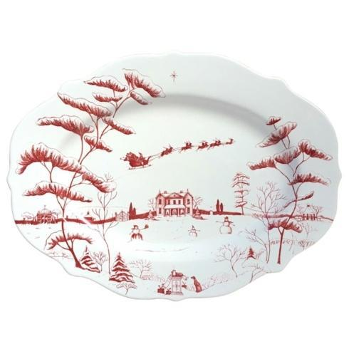 Juliska  Country Estate Winter Frolic Serving Platter Christmas Eve $150.00
