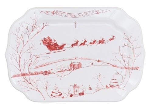 Juliska Country Estate Ruby Gift Tray Joy to the World $39.00