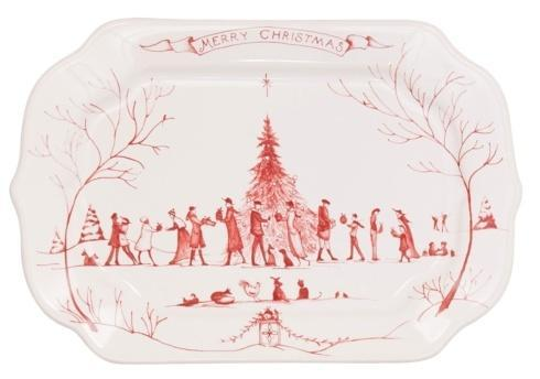 Juliska Country Estate Ruby Gift Tray Merry Christmas $39.00