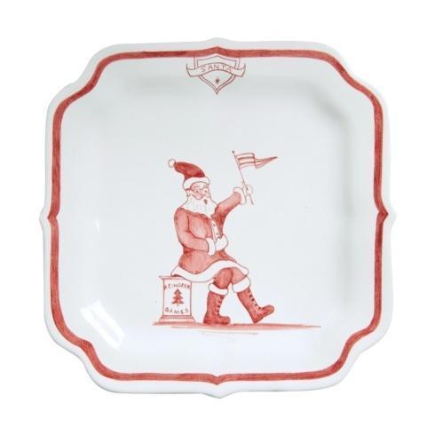 Juliska Country Estate Reindeer Games Ruby Party Plate Santa $35.00