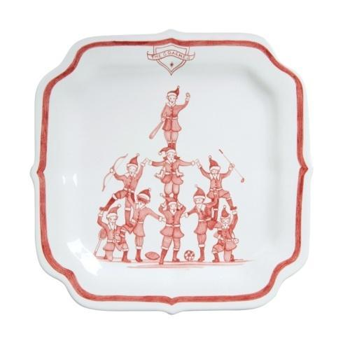 Juliska Country Estate Reindeer Games Ruby Party Plate The Coaches $35.00