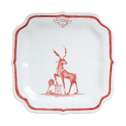 Juliska Country Estate Reindeer Games Ruby Party Plate Vixen/Tennis $35.00