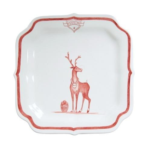 Juliska Country Estate Reindeer Games Ruby Party Plate Rudolph $35.00