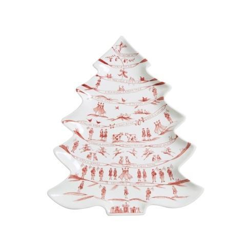 Juliska Country Estate Winter Frolic Ruby Tree Platter 12 Days of Christmas $140.00