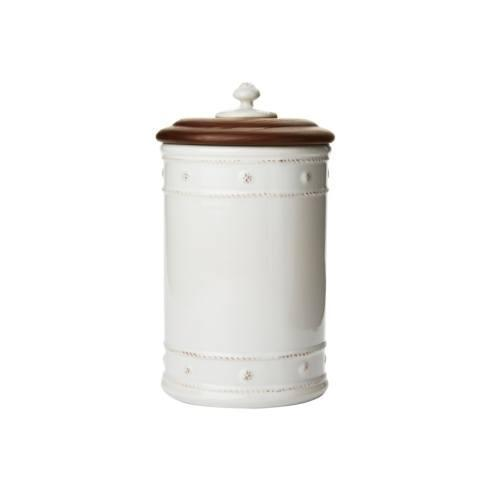 "$98.00 10"" Canister with Wooden Lid"