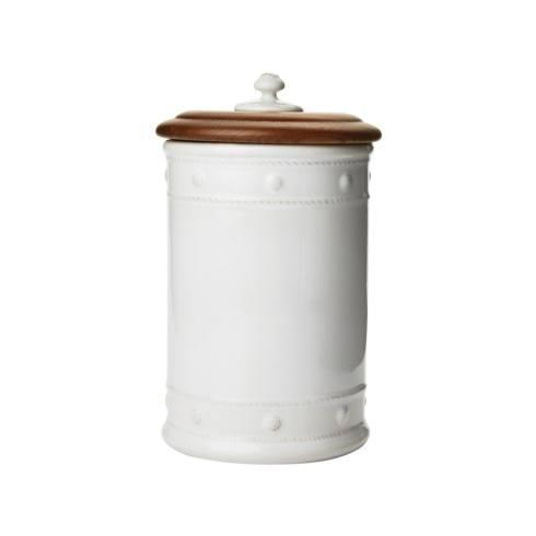 Juliska Berry and Thread Whitewash Canister with Wooden Lid 11.5