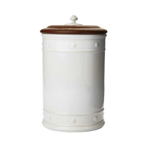 Juliska Berry and Thread Whitewash Canister with Wooden Lid 13