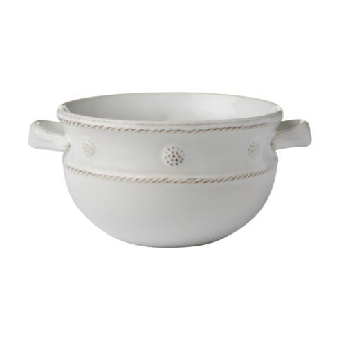 Juliska Berry & Thread Whitewash 2 Handled Soup/Chili Bowl $40.00