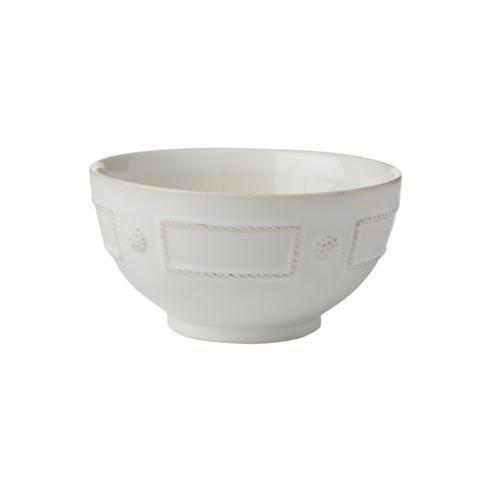 Juliska Berry & Thread French Panel Whitewash Cereal/Ice Cream Bowl $34.00
