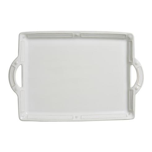 Juliska French Panel Whitewash Handled Tray/Platter $150.00