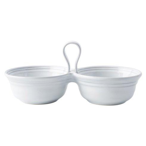$62.00 White Truffle 2 Bowl Server