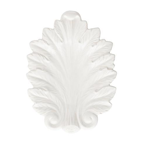 "$78.00 Whitewash 16"" Leaf Platter"