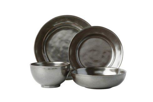 Juliska  Pewter Stoneware 4pc Setting (KP01/91, KP02X/91, KP07/91, KP64/91) $159.00