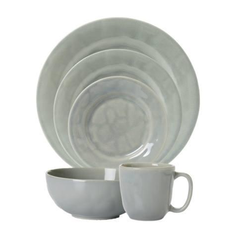 Juliska Puro Mist Grey Crackle 5pc Setting (Dinner, Dessert, Side, Cereal, Cofftea) $130.00