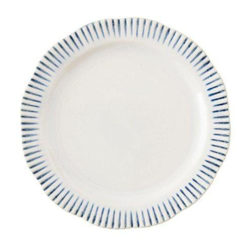 $42.00 Stripe Indigo Dinner Plate