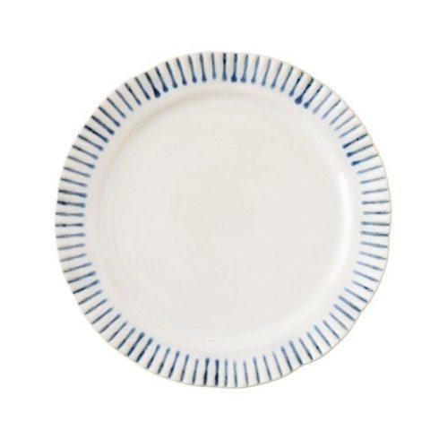 $40.00 Stripe Indigo Dessert/Salad Plate