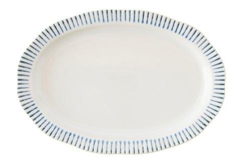 "Juliska  Sitio Stripe Stripe Indigo 17"" Serving Platter $125.00"