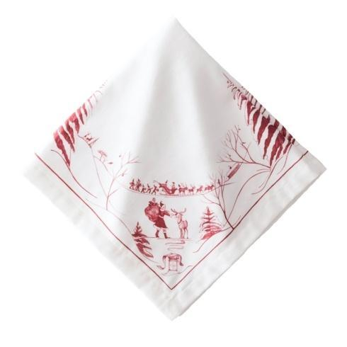 Juliska  Napkins Country Estate Winter Frolic Ruby Napkin $20.00