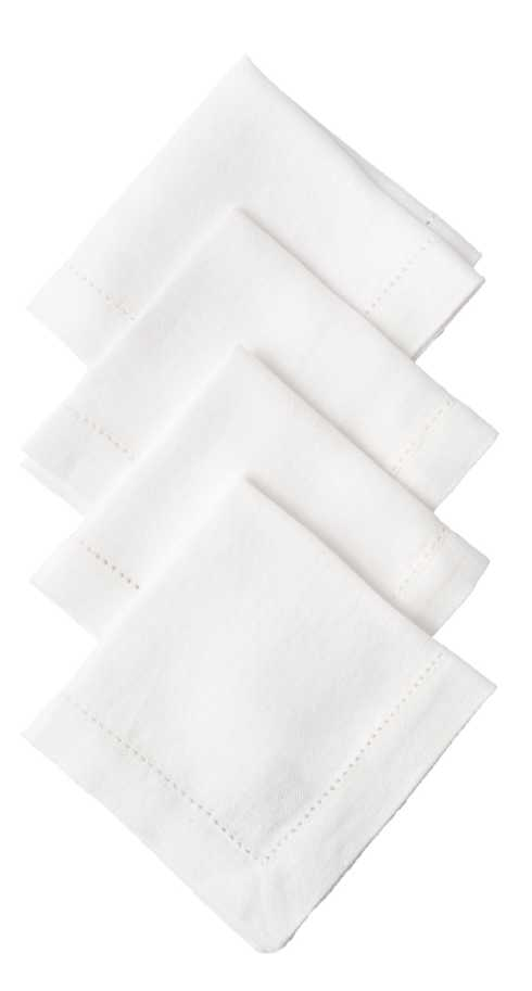 Juliska  Napkins Heirloom Linen White Cocktail Napkin Set/4 $40.00