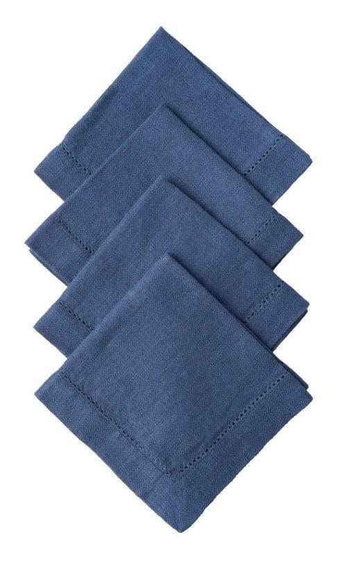 Juliska  Napkins Heirloom Linen Delft Cocktail Napkin Set/4 $40.00