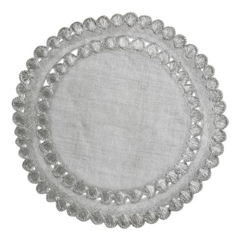 Juliska Linens Placemats Isadora Silver Placemat $35.00