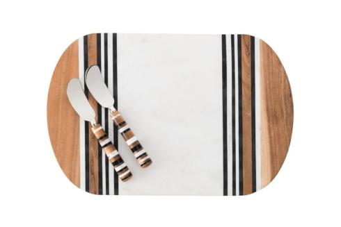 Juliska  Stonewood Stripe Serving Board & Spreaders $150.00