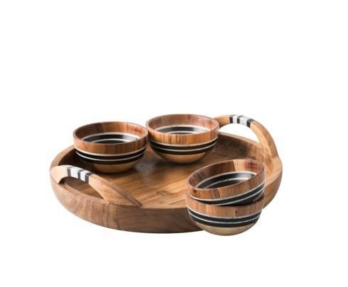$295.00 5pc Appetizer Set: Tray & 4 Bowls